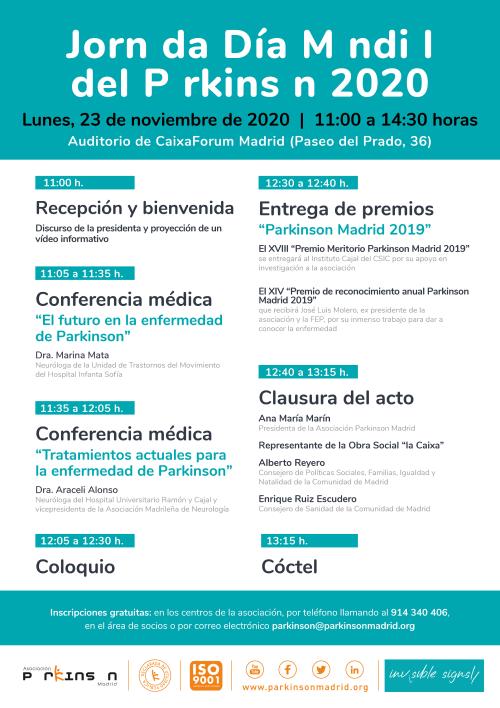 Cartel actividades Dia Mundial del Parkinson