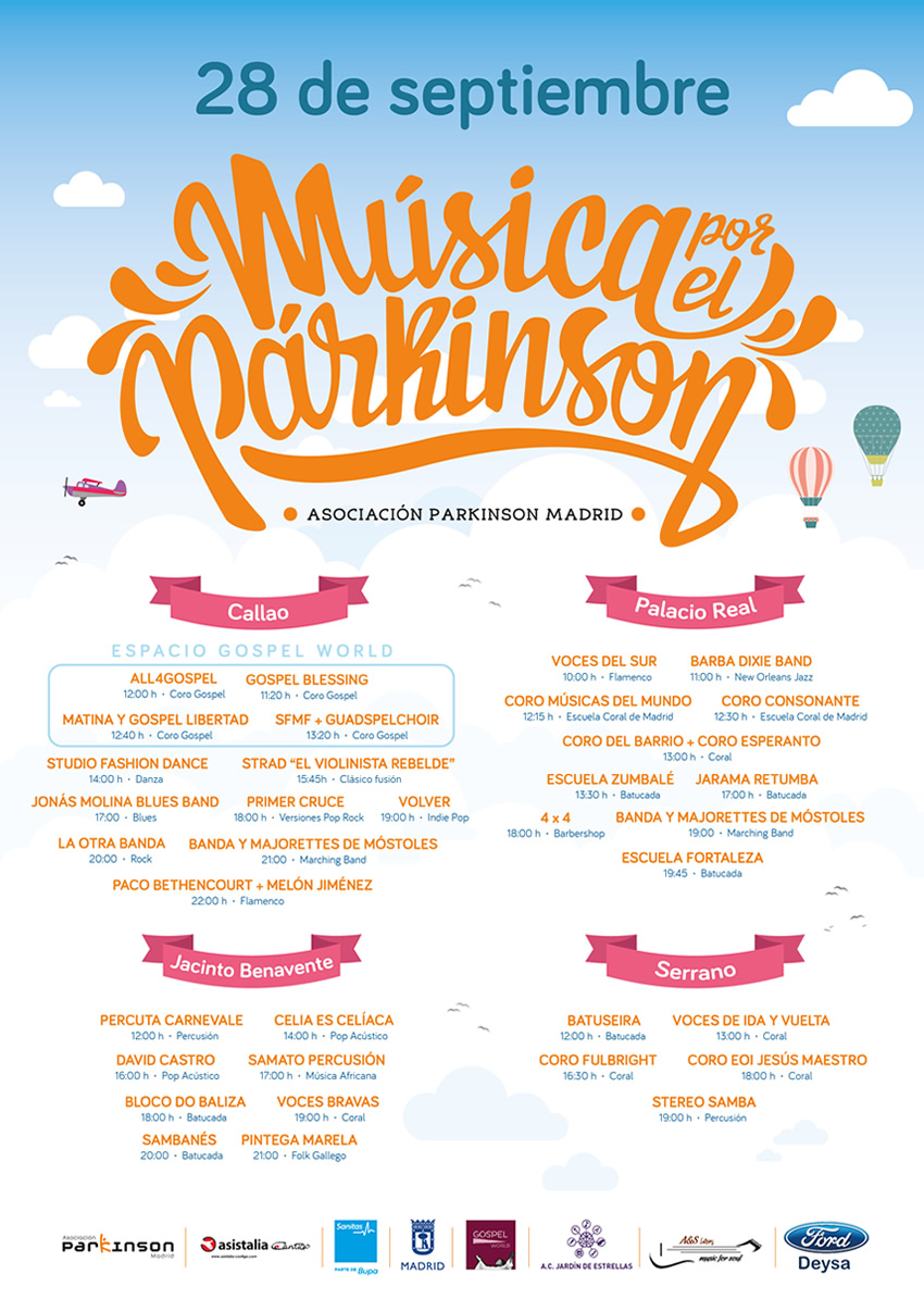 Cartel Musica por el Párkinson 2019