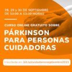 Curso online gratuito sobre párkinson para personas cuidadoras